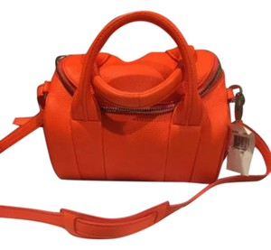 Alexander Wang Rocco Rockie Studded Satchel in Orange