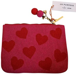 Kate Spade Red and Pink Clutch