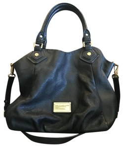 Marc Jacobs Leather Lambskin Gold Hardware Tote in Black