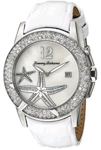 Tommy Bahama TBA 2134 Rhinestone starfish leather croco strap watch