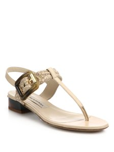 Burberry Antique Taupe Pink Sandals