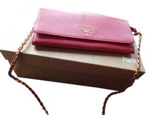 Prada Woc Wallet On Chain Pink Cross Body Bag
