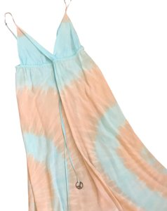 Blue tan tie dye Maxi Dress by Gypsy05