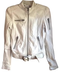 Juicy Couture winter white Leather Jacket