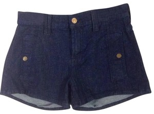 7 For All Mankind Mini/Short Shorts dark denim blue