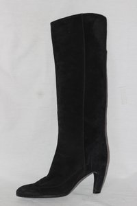 Sergio Rossi Knee High Suede Italian Black Boots