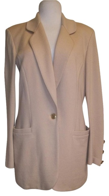 Preload https://item2.tradesy.com/images/st-john-camel-collection-marie-gray-women-s-knit-1-button-blazer-pant-suit-size-10-m-2066256-0-1.jpg?width=400&height=650
