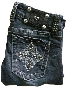 Miss Me Embellished Studded Wash Rocker Boot Cut Jeans
