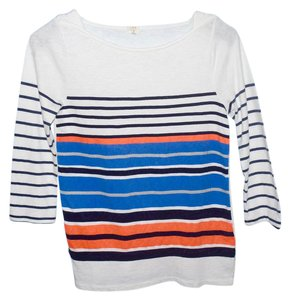 J.Crew T Shirt blue and orange stripe