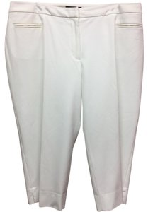 Talbots Plus-size Lined Capris White