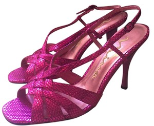 Nina Shoes Metallic Fushia Formal