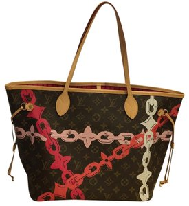 Louis Vuitton Neverfull Speedy Chain Neverfull Limited Edition Artsy Tote