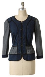 Daughters of the Liberation Anthropologie Peplum Pieced Denim Jean Splicing Womens Jean Jacket