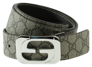 Gucci GUCCI 245861 Unisex GG Supreme Reversible Buckle Belt 100-40