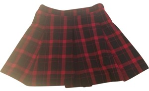 Urban Outfitters Mini Skirt red black