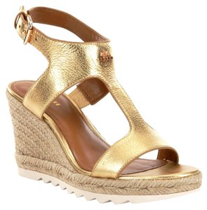 Coach Gold Mettalic Tumbled Sandals