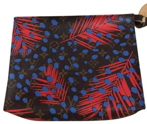 Louis Vuitton brown blue and red Clutch