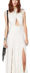 cream white Maxi Dress by Nasty Gal