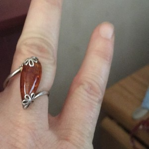 Other stamped 925Sterling Silver Genuine Baltic Amber Ring