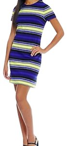 Calvin Klein short dress blue, black, yellow, white on Tradesy