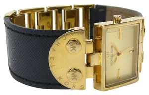 Michael Kors Michael Kors MK2366 Rectangle Gold & Navy blue leather women's watch