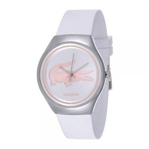 Lacoste Lacoste Ladies White Band Pink Logo Watch 2000838