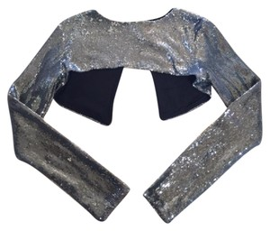Zara Sequin Sequined Crop Trendy Cardigan