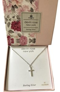 Devin rose Sterling Silver, Cross Necklace