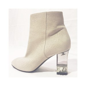 Pollini Suede New York Ivory Boots
