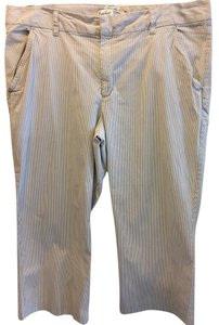 Old Navy Plus-size Crop Striped Stretch Capri/Cropped Pants Tan