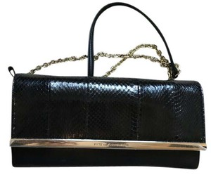Diane von Furstenberg Leather Designer Black Clutch