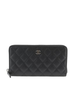 Chanel Chanel Caviar Quilted Leather Zip-Around Wallet (113584)