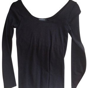 bebe Stretchy Longsleeve Top Black