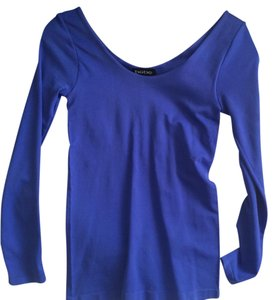 bebe Stretchy Fitted Top Royal Blue