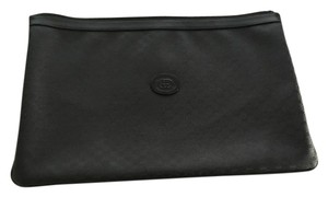 Gucci Folio Monogram Black logo Clutch