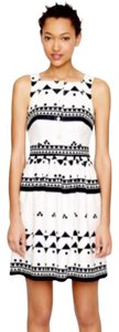 J.Crew short dress black white on Tradesy