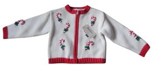 hartstrings BABY Candy Cane Baby Size Cotton Zipper Close New With Tags Cardigan
