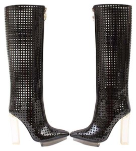 Versace Patent Leather Black Boots