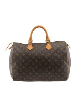 Louis Vuitton Monogram Coated Canvas Satchel in Brown