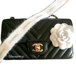 Chanel New Rare Chevron Lambskin Cross Body Bag