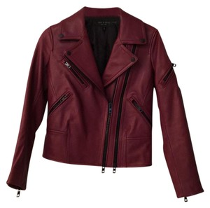 Rag & Bone burgundy Leather Jacket