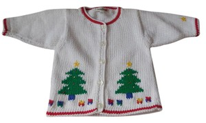 Neiman Marcus Christmas Tree New With Tags Baby Sweater Cotton Made In Peru Cardigan