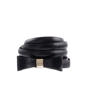 J.Crew Leather Bow Skinny Belt