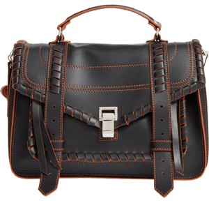 Proenza Schouler Satchel in Black/Orange
