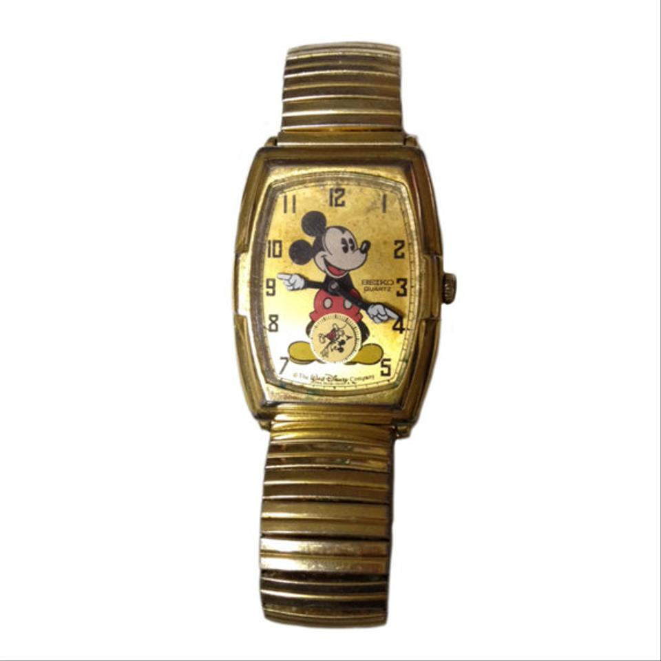 Seiko Gold Stainless Steel Mickey Mouse Vintage Mickey Mouse ...