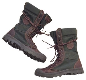 Palladium Brown/Olive Drab Boots