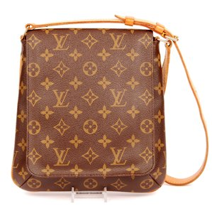 Louis Vuitton Canvas Musette Salsa Leather Shoulder Bag