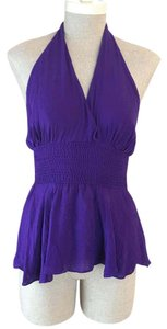 Parker plum , purple, eggplant Halter Top