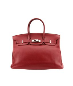 Hermès Birkin Leather K In A Square Satchel in Red