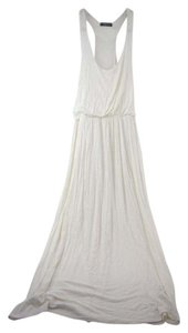 White Maxi Dress by Stylewise Racerback Scoopneck Maxi